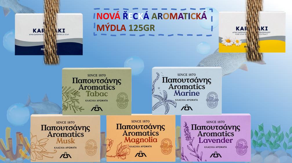 Nová řecká aromatická mýdla
