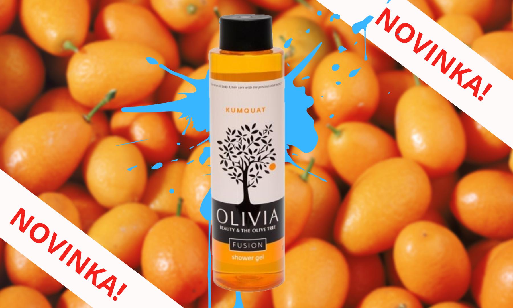 Nový řecký přírodní olivový sprchový gel KUMQUAT 300ml