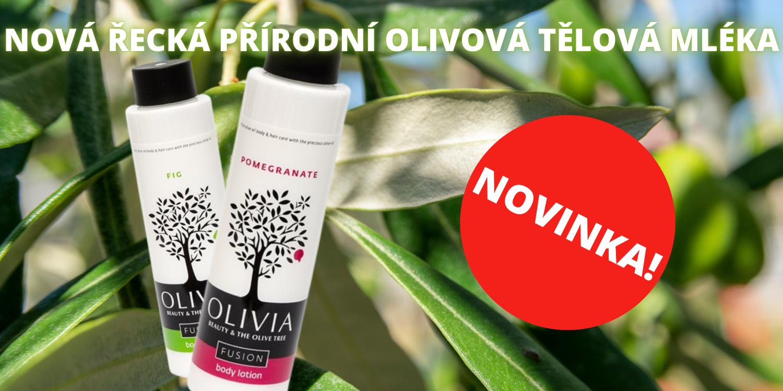 Nová řecká přírodní olivová tělová mléka