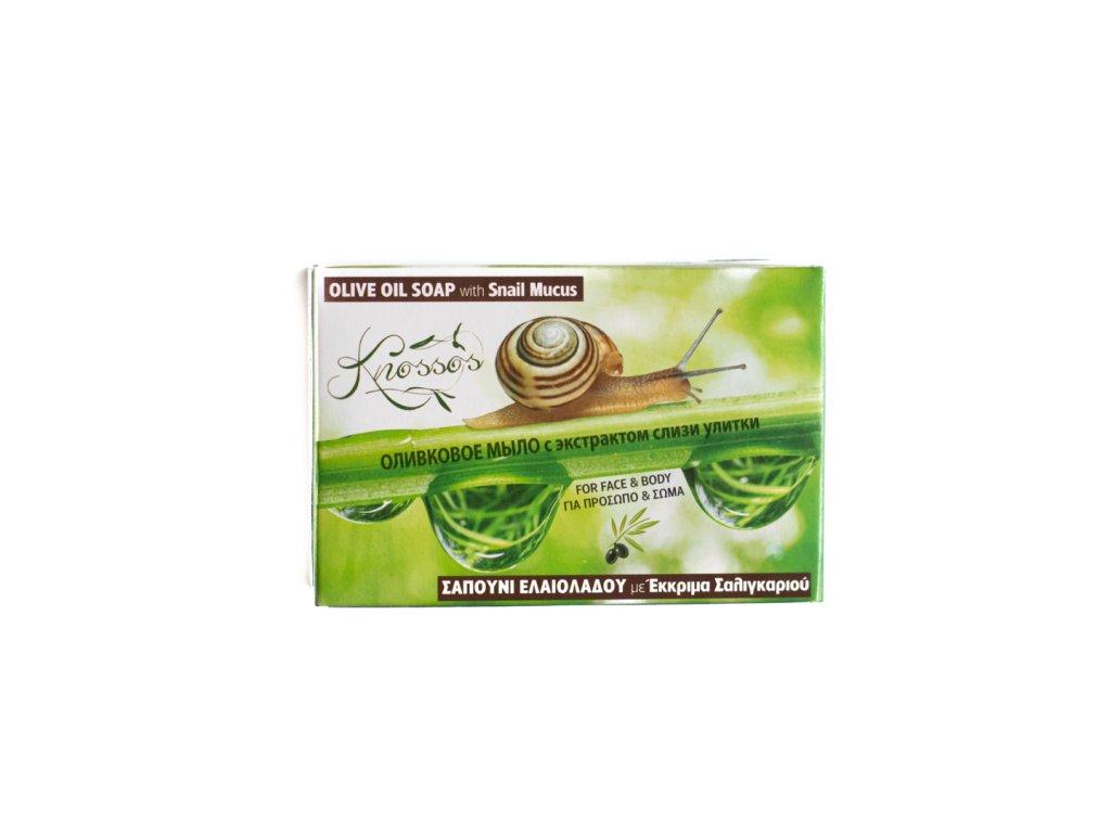 Aromatické olivové mýdlo s kozímm mlékem a hlemýždím hlenem