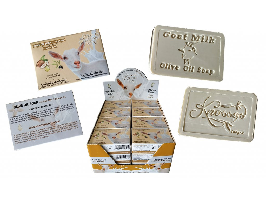 4. Olive Oil Soap with Goat Milk & Almond Oil 100g