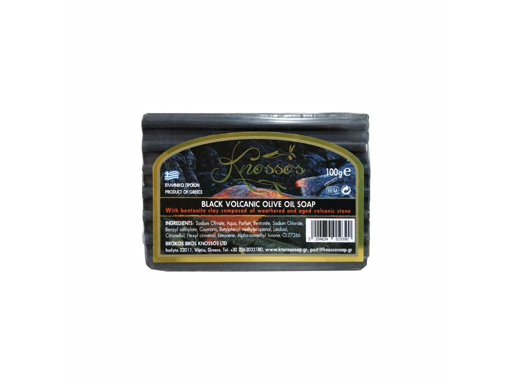 6. Olive Oil Soap Black Volcanic with Bentonite 100g
