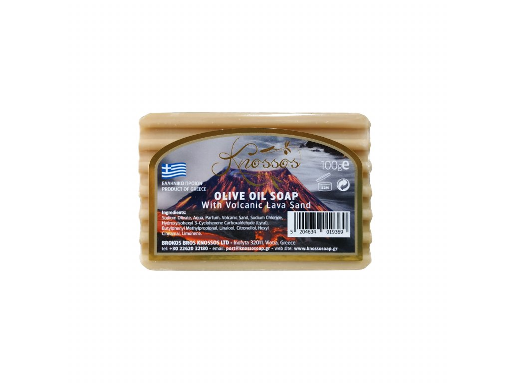 5. Olive Oil Soap with Lava Sand 100g