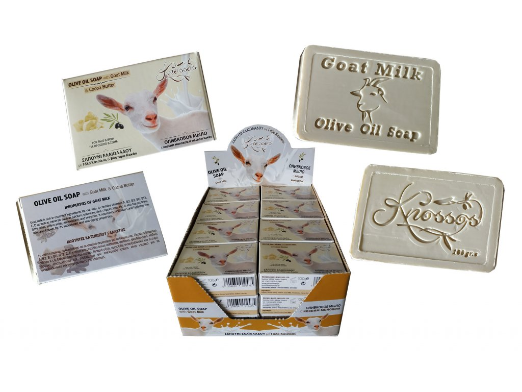 4. Olive Oil Soap with Goat Milk & Coconut Butter 100g