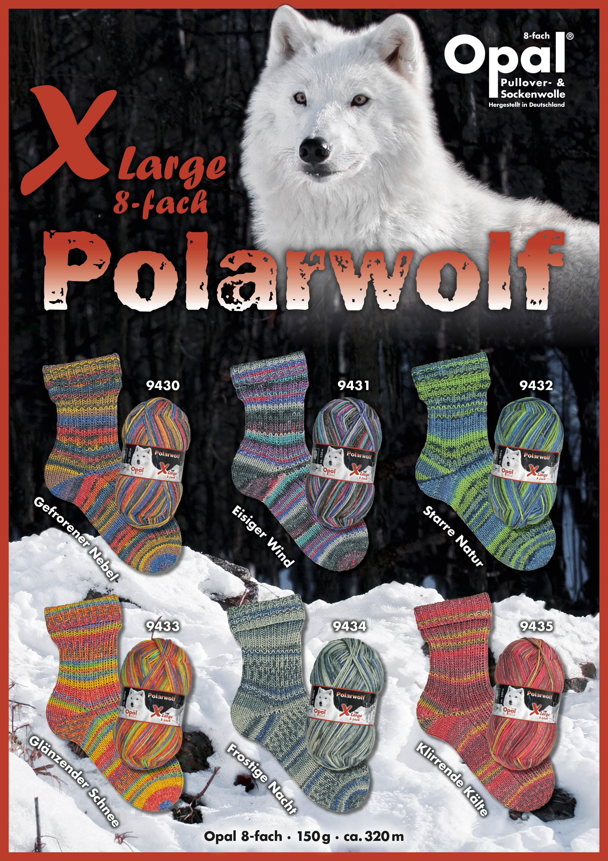 Opal XLarge Polarwolf 8-fach