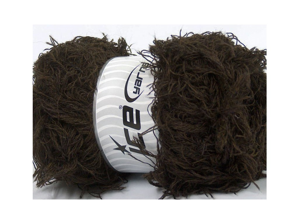 Příze Eyelash Wool Dark Brown 48455