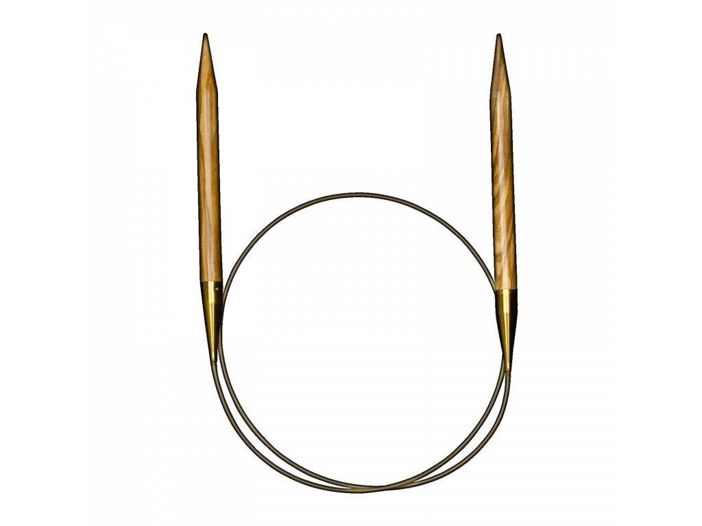 Addi luxusní kruhové jehlice z olivového dřeva 3,50mm různé délky lanka
