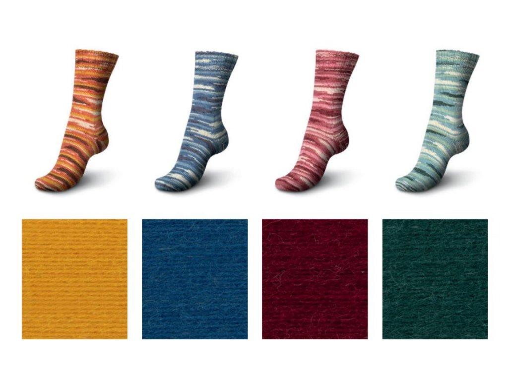 Schachenmayr Regia Eco Line Uni + Color ponožková příze 100g