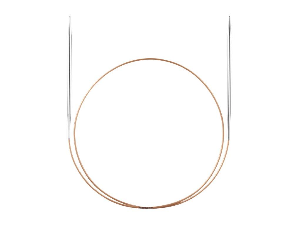 Jehlice kruhové Addi Premium Silber 2,50mm různé délky