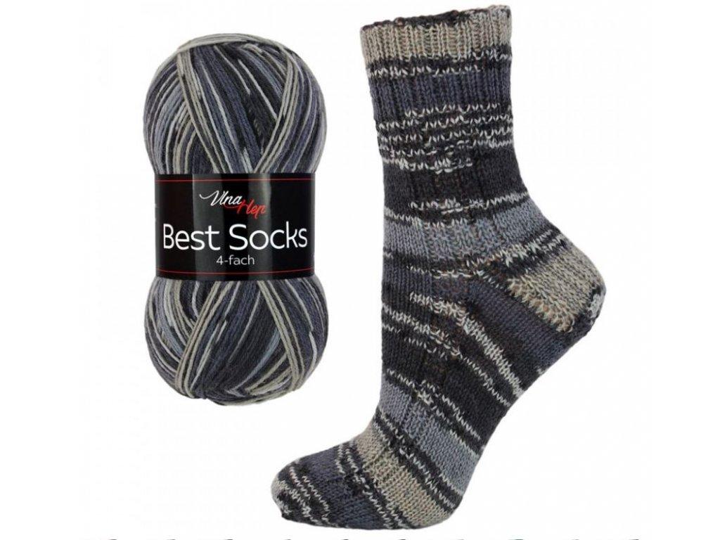 Ponožková příze Vlna-Hep Best Sock 7068 75% vlna, 25% polyamid, 100g