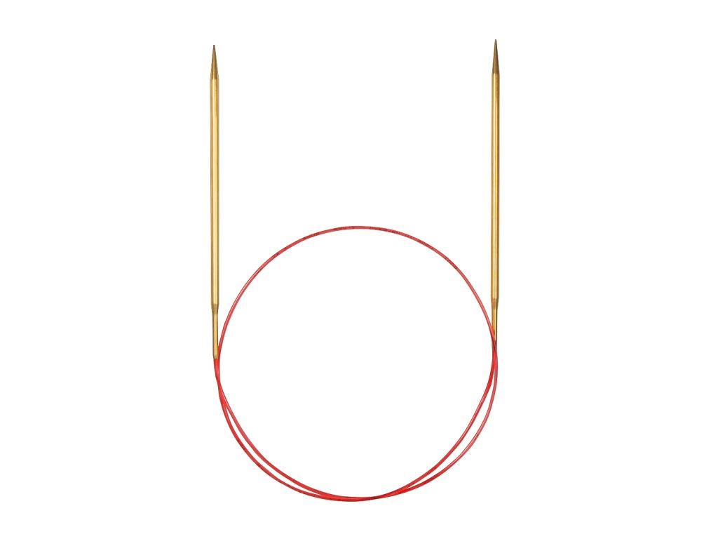 Jehlice kruhové Addi Premium Gold 2,25mm různé délky lanka