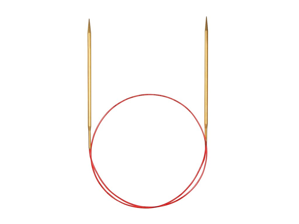 Jehlice kruhové Addi Premium Gold 7,00mm/100cm