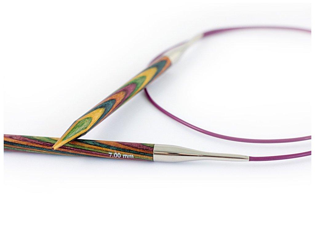 Jehlice Knit Pro kruhové  Symfonie 10,00mm různé délky lanka