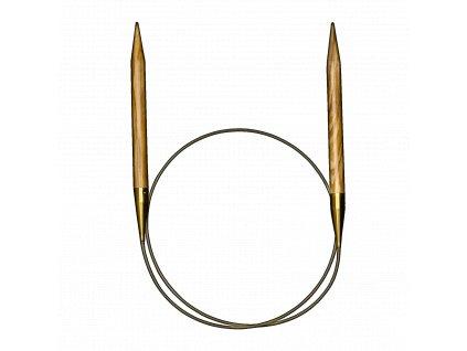 Addi luxusní kruhové jehlice z olivového dřeva 5,00mm různé délky lanka