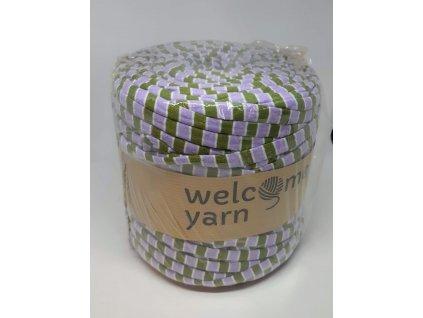 Špagáty Welcome yarn fialovo-zelená