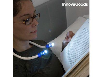 led lampicka na cteni na krk innovagoods
