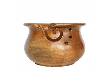 Dřevěná miska na klubka teakové dřevo světlé