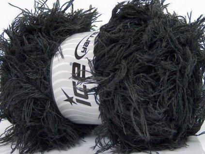 Příze Eyelash Wool Dark Grey 44301