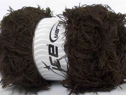 Příze Eyelash Wool Dark Brown 48455