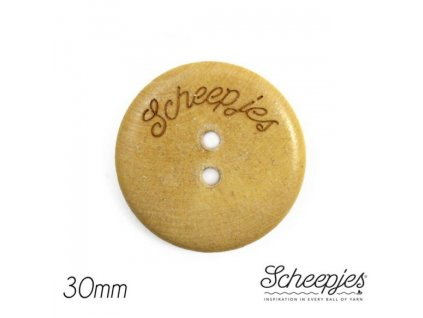 Knoflík Scheepjes dřevěný 2-dírky