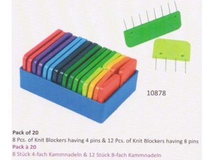 Knit Pro Blockers speciální špendlíkové hřebeny k vypínání krajek