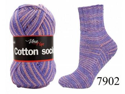 Ponožková příze Vlna-Hep Cotton Sock 7902, 100g