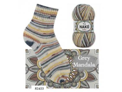 Příze NAKO Boho ponožková 82453, 100g