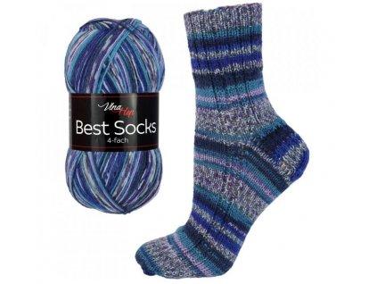 Ponožková příze Vlna-Hep Best Sock 7061, 75% vlna, 25% polyamid, 100g