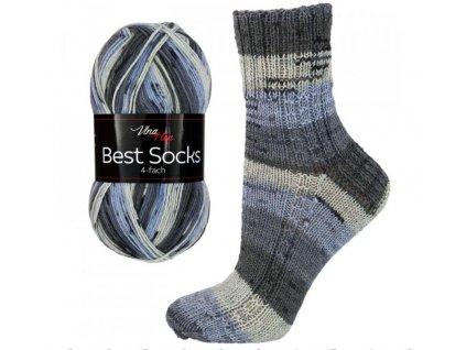 Ponožková příze Vlna-Hep Best Sock 7063 75% vlna, 25% polyamid, 100g