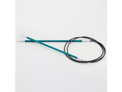 Jehlice kruhové Knit Pro Zing Alu 3,25mm různé délky lanka