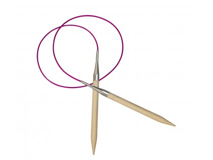 Jehlice kruhové Knit Pro Basix dřevo 4,00 různé délky lanka