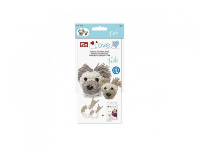 prym love pompon schablone hund fido 624202 2