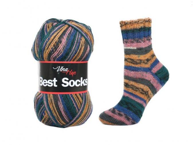 Ponožková příze Vlna-Hep Best Sock 7012, 75% vlna, 25% polyamid, 100g