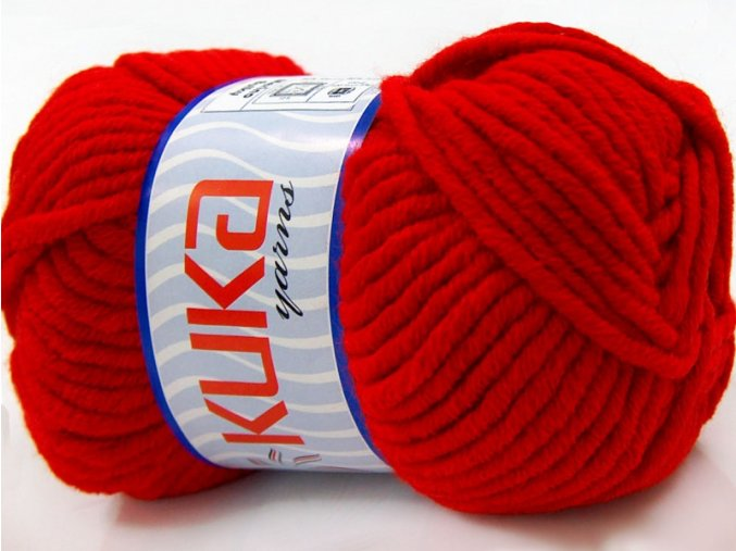 KUKA yarns Merino Bulky Red 16723, 100g