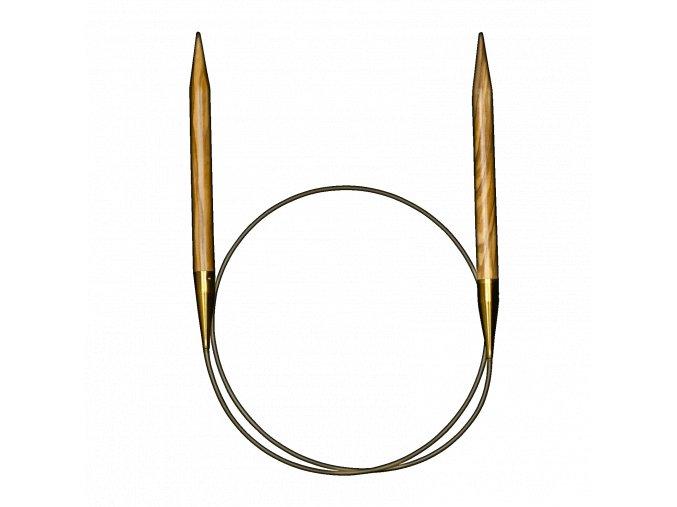 Addi luxusní kruhové jehlice z olivového dřeva 3,50mm/120cm