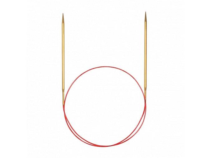 Jehlice kruhové Addi Gold 2,25mm různé délky lanka