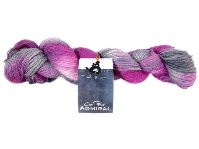 Příze Admiral Cat Print 2160_ Fleißiges Lieschen 75% vlna, 25% polyamid ponožková příze 100g