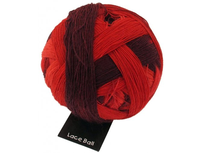 Lace Ball 1963_ Cranberries 75% merino, 25% polyamid krajková příze
