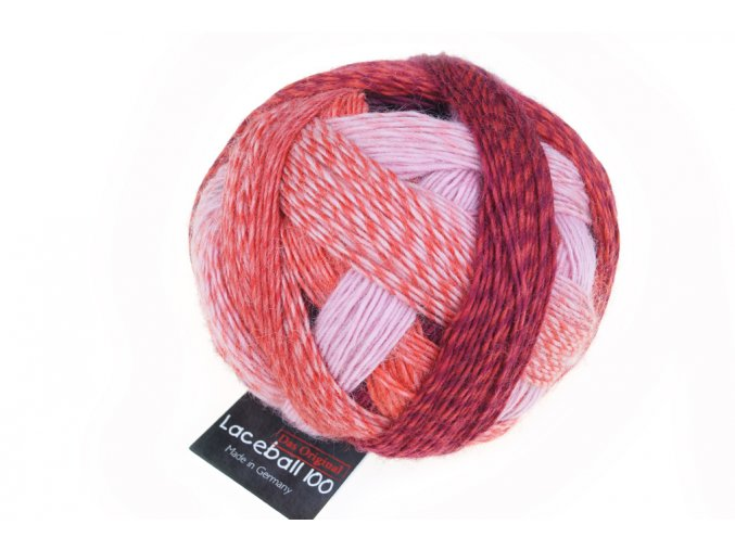 Lace Ball 100 2305_ Red to Go 100% merino