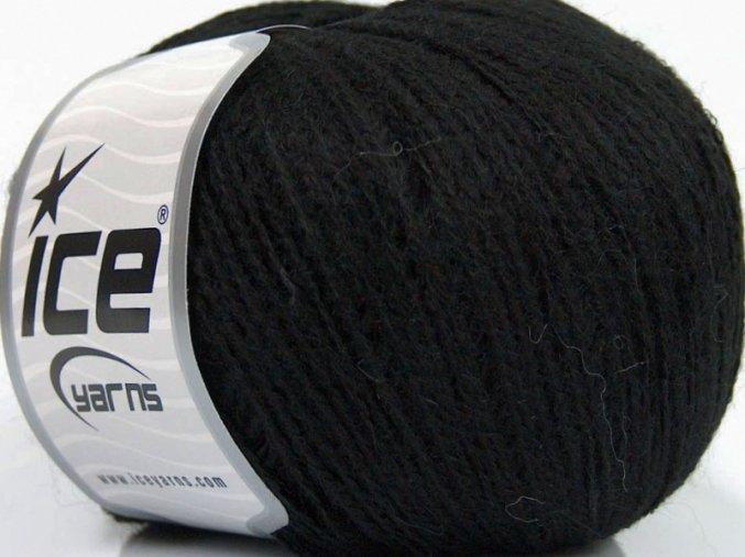 Baby alpaka jemná Černá