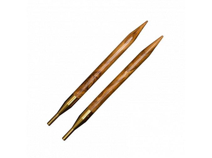 AddiClick luxusní jehlice z olivového dřeva pár typů různé velikosti