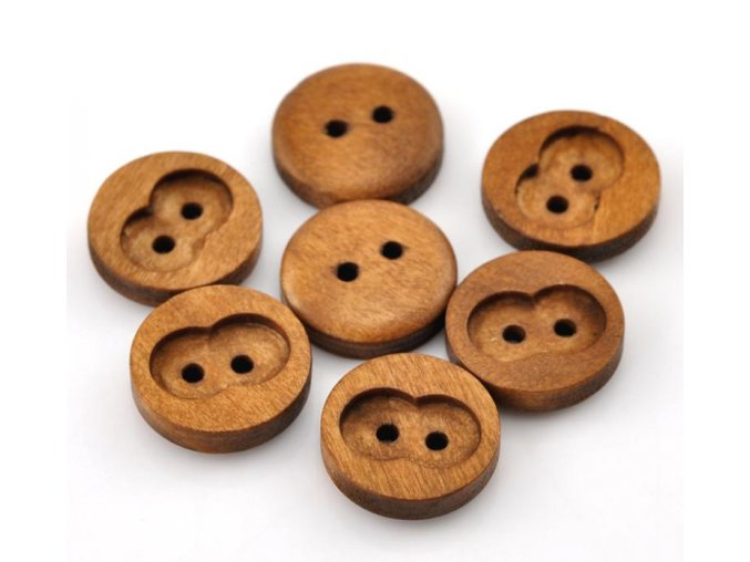 Hoomall 100PCs Coffee 2 Holes Round Wood Sewing Buttons 15mm 5 8 Dia Crafts And Scrapbooking