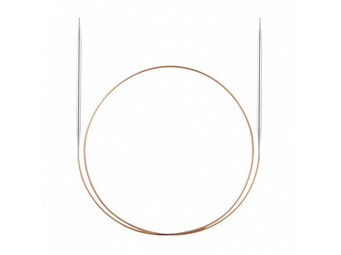 Jehlice kruhové Addi Premium Silber 5,00mm/60cm