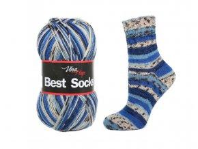 Ponožková příze Vlna-Hep Best Sock 7009, 75% vlna, 25% polyamid, 100g