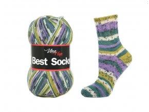 Ponožková příze Vlna-Hep Best Sock 7010, 75% vlna, 25% polyamid, 100g