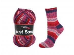 Ponožková příze Vlna-Hep Best Sock 7015, 75% vlna, 25% polyamid, 100g