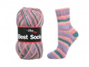 Ponožková příze Vlna-Hep Best Sock 7016, 75% vlna, 25% polyamid, 100g