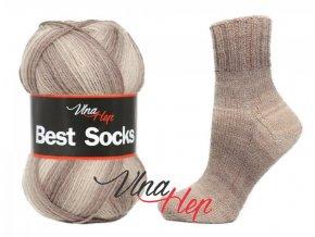 Ponožková příze Vlna-Hep Best Sock 7104, 75% vlna, 25% polyamid, 100g