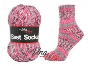 Ponožková příze Vlna-Hep Best Sock 7105, 75% vlna, 25% polyamid, 100g