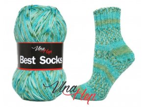Ponožková příze Vlna-Hep Best Sock 7106, 75% vlna, 25% polyamid, 100g